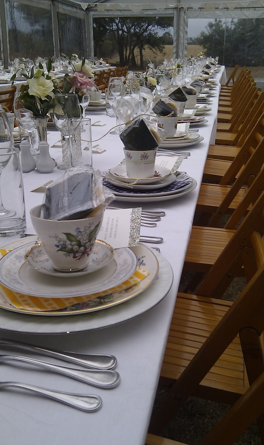 Beautiful china really made these place settings.