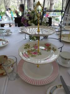Home made vintage tiered cake stands
